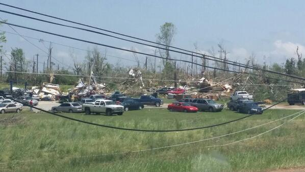 More of the destruction in Louisville, MS