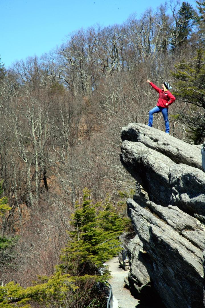 I nearly gave my mom a heart attack when I insisted on climbing to the top of The Blowing Rock. The view from the tip of The Blowing Rock was awesomely captivating!