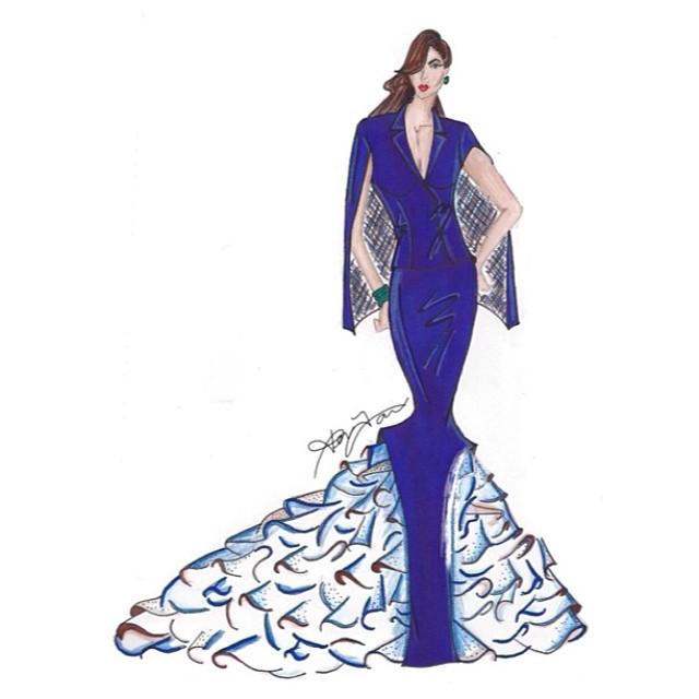 A beautifully elegant sketch by Ken Laurence.  Photo Credit: Ken Laurence