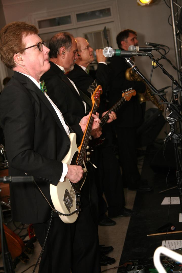 """The awesome band """"Class Reunion"""" playing live at the LFA VIP Party."""