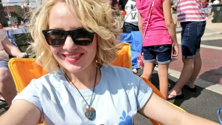 A selfie while enjoying some of the mid-day performers. It was so very hot outside, but it was so very worth the sunburn *wink*