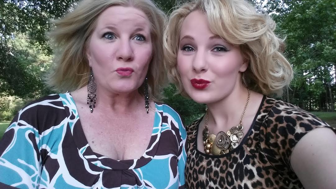 Mom and I once again attempted (and failed) at taking a serious selfie before heading out to the LFA VIP Party *wink*