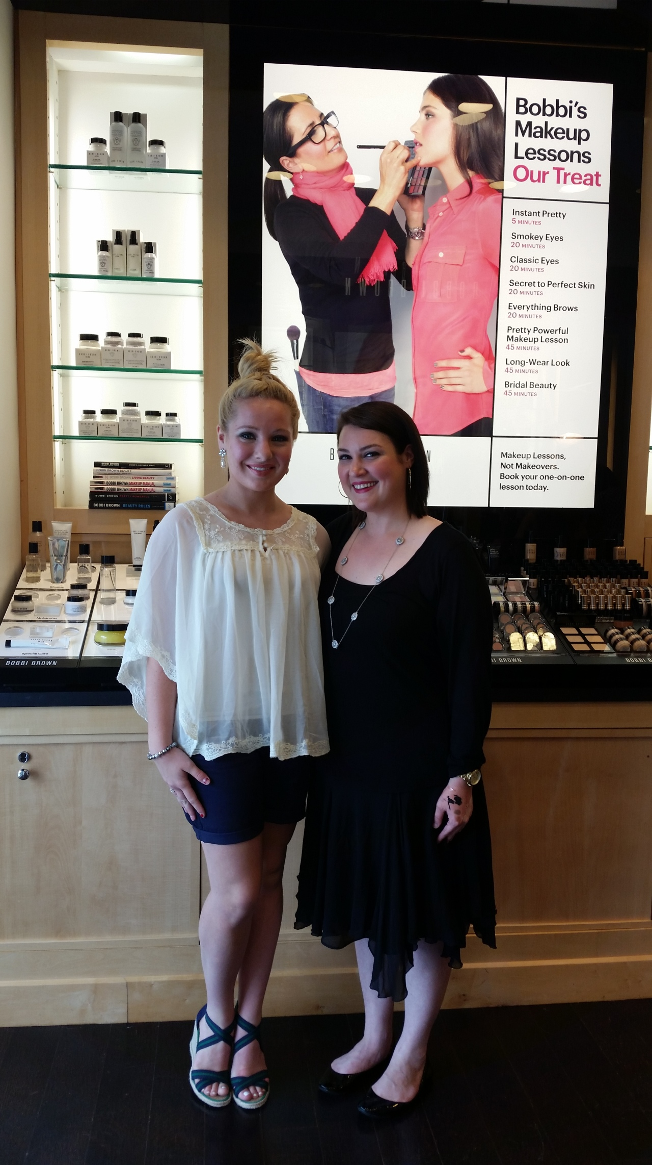 Who would have thought that creating two makeup looks--one for day and one for night--could be so easy! Thank you, Becca Sammis, for opening up my eyes to the fabulous versatility of Bobbi Brown products! You're the best!
