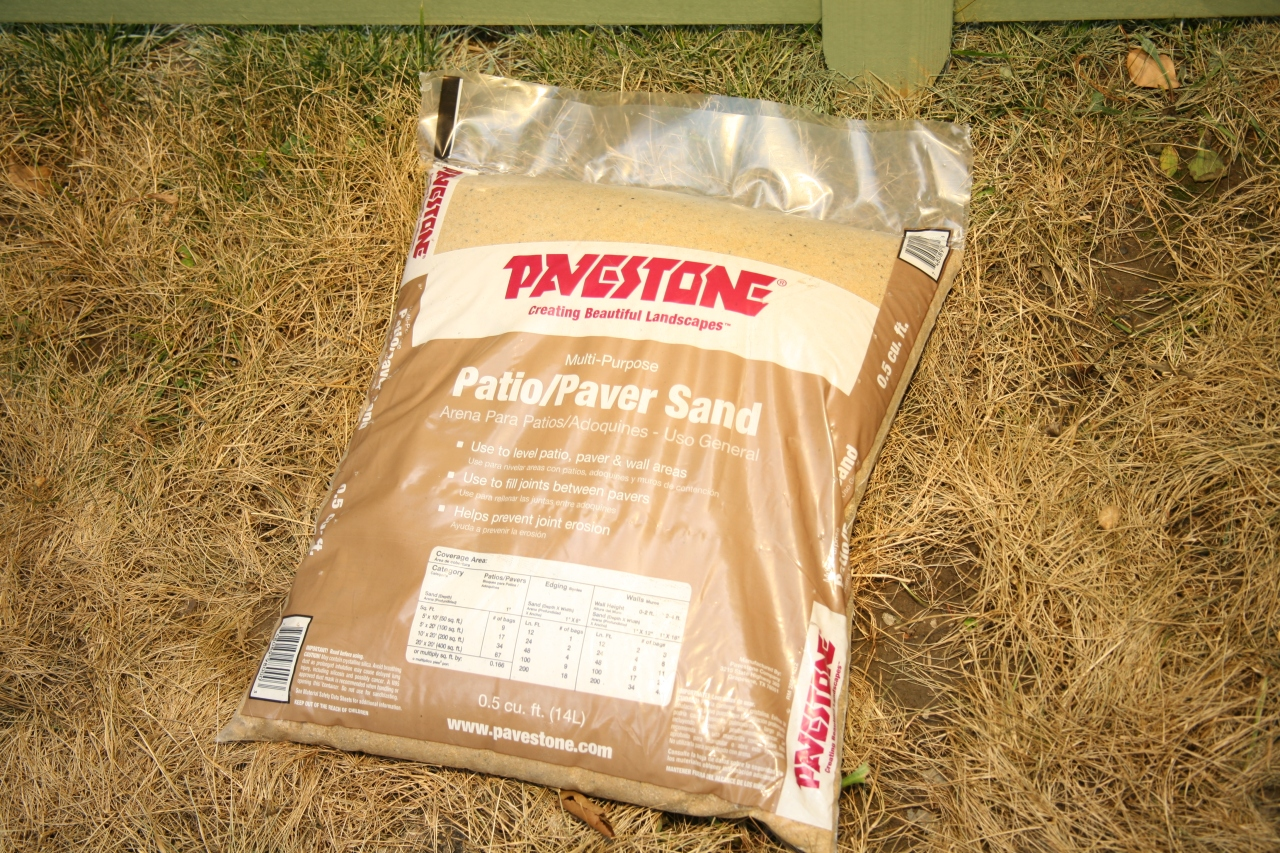 While gathering supplies at Home Depot, I found myself starring at several different kinds of bagged sand wondering which one was the right one. So, I called my trusty dad, and he recommended Prestone. Thanks, Deddy, you're the best *wink*