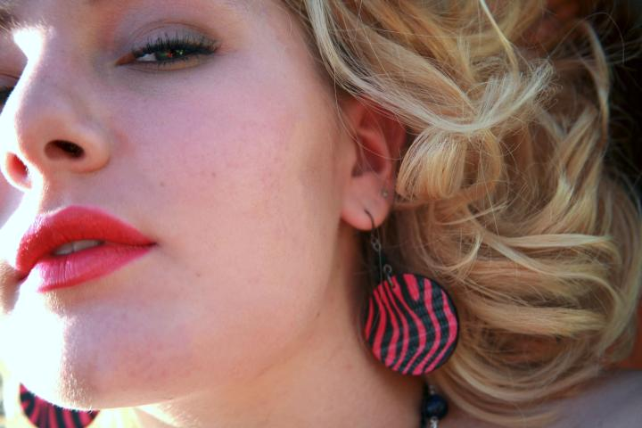 Earrings: Handmade by Heather O'Cain of BluKatDesign