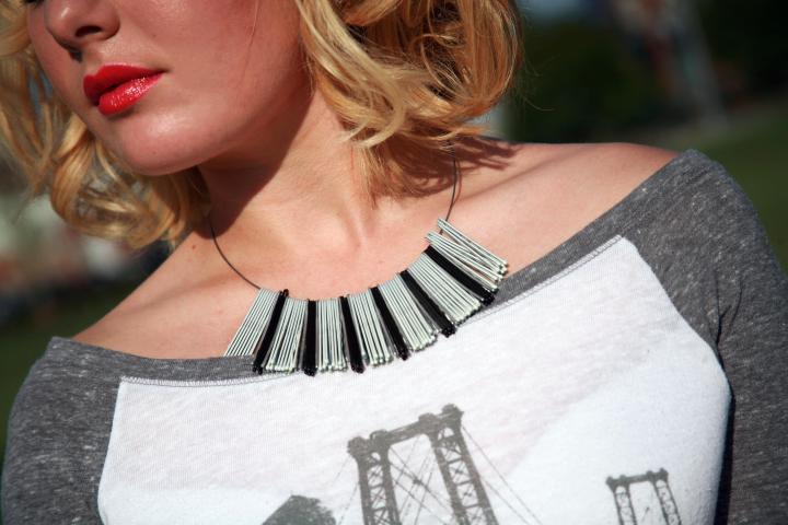 Necklace: Handmade by Heather O'Cain of BluKatDesign