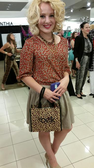 For a dressy look, I paired this blouse with a silk skirt for a sweet look that was perfect for attending the 2014 Belk Fall Fashion Preview! Blouse: Deep South Pout Skirt: GAP Heels: Jessica Simpson, Belk Necklaces: layered Mark by Avon