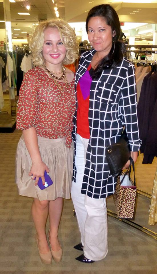 The VIP with the Budding Fashionista, Vanessa Culpepper. Oh, I am so loving her jacket!