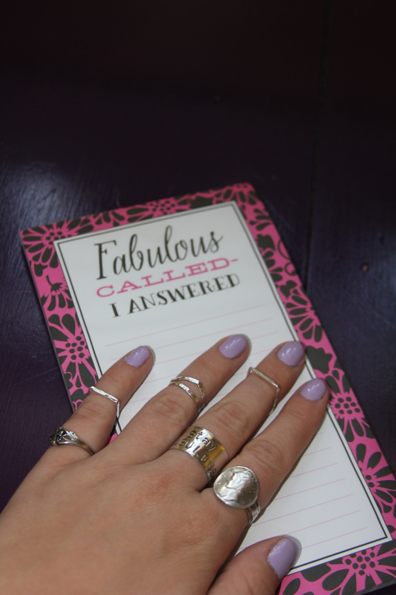 "I, of course, had to pick up this note pad because it says ""fabulous"" *wink* AND it was only $3.98...whoo hoo!"