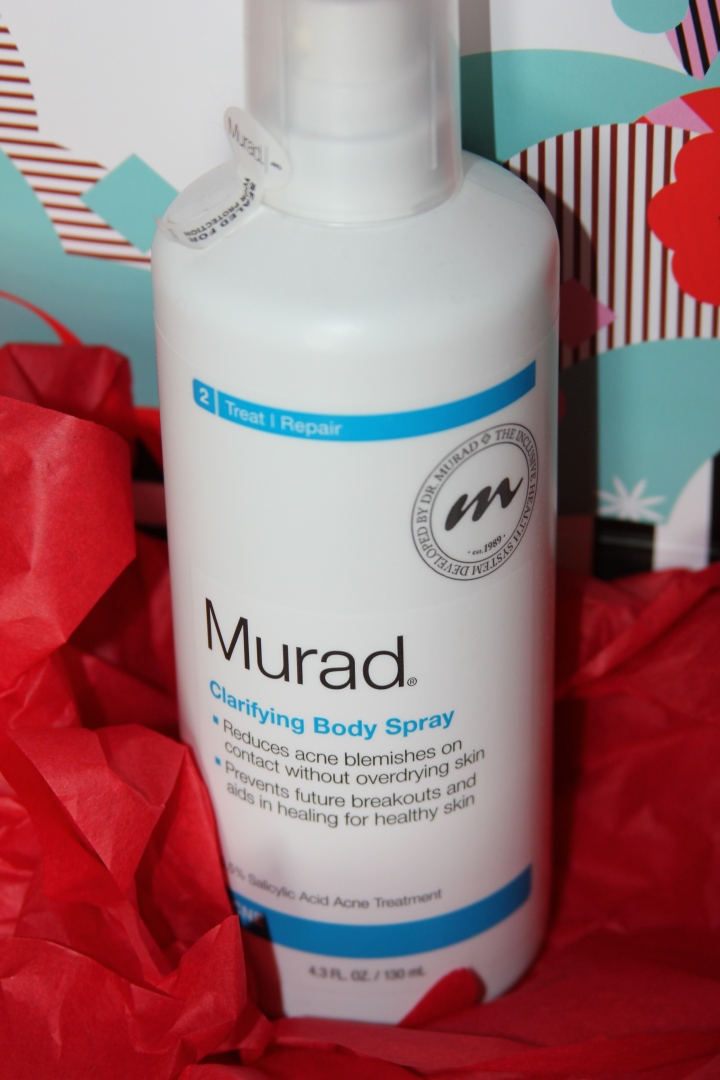 Last but not least, I had to get my FAVORITE body clarifying spray from Murad. Bye-bye bad workout skin and hello pretty, glowing skin!