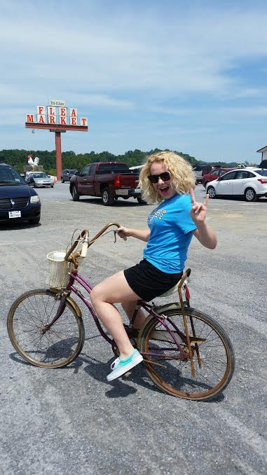 "Just a little snapshot from today's fun adventure! I went ""junking"" with my mom at the Tri-Cities Flea Market in search of old junk for her to upcycle. Check out her blog @ www.sweetsorghumliving.com"