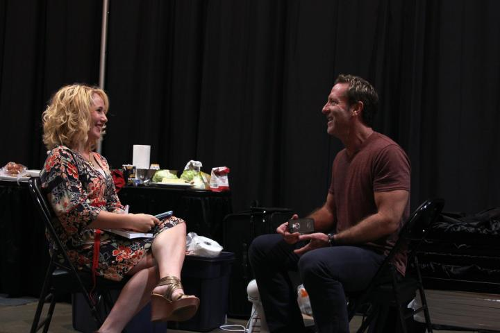 Todd and I chatting backstage before his cooking demonstration. He is such a fun guy--I cannot wait to share the amazing interview!