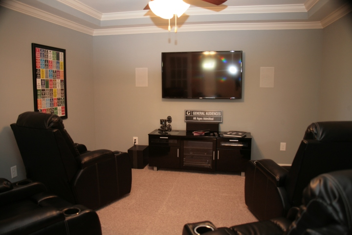 A home theater...really? Yes, really! How amazing is this space!