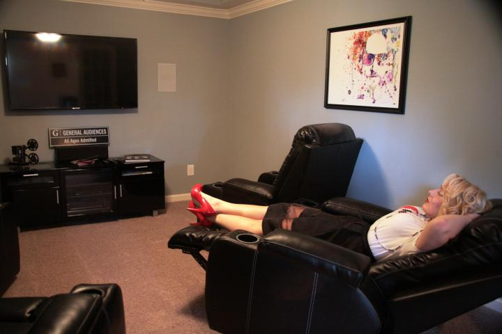 The VIP is definitely digging the personal home theater *wink*