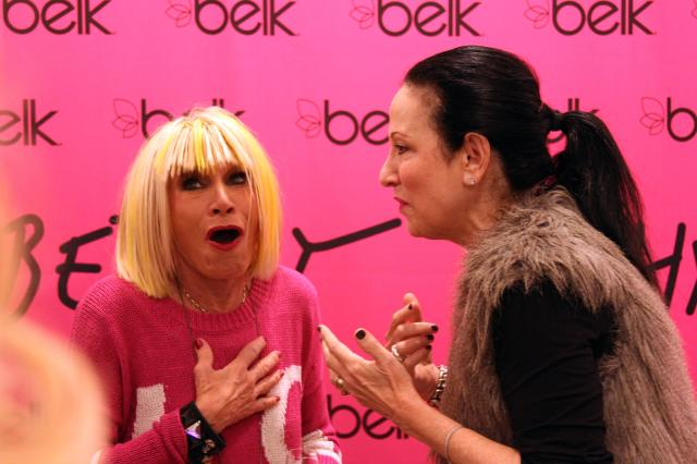 I do not remember what Betsey and Arlene were chatting about in this photo; however, it was so precious that I had to share it with y'all anyway :)