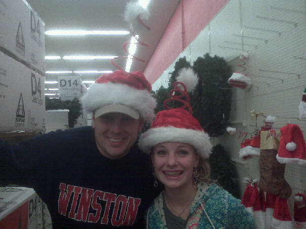 My dad and I Christmas shopping a few years ago.