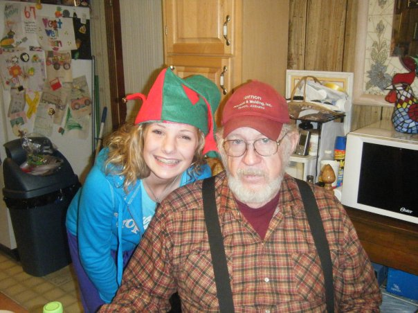 Paw Riley and his elf *wink*