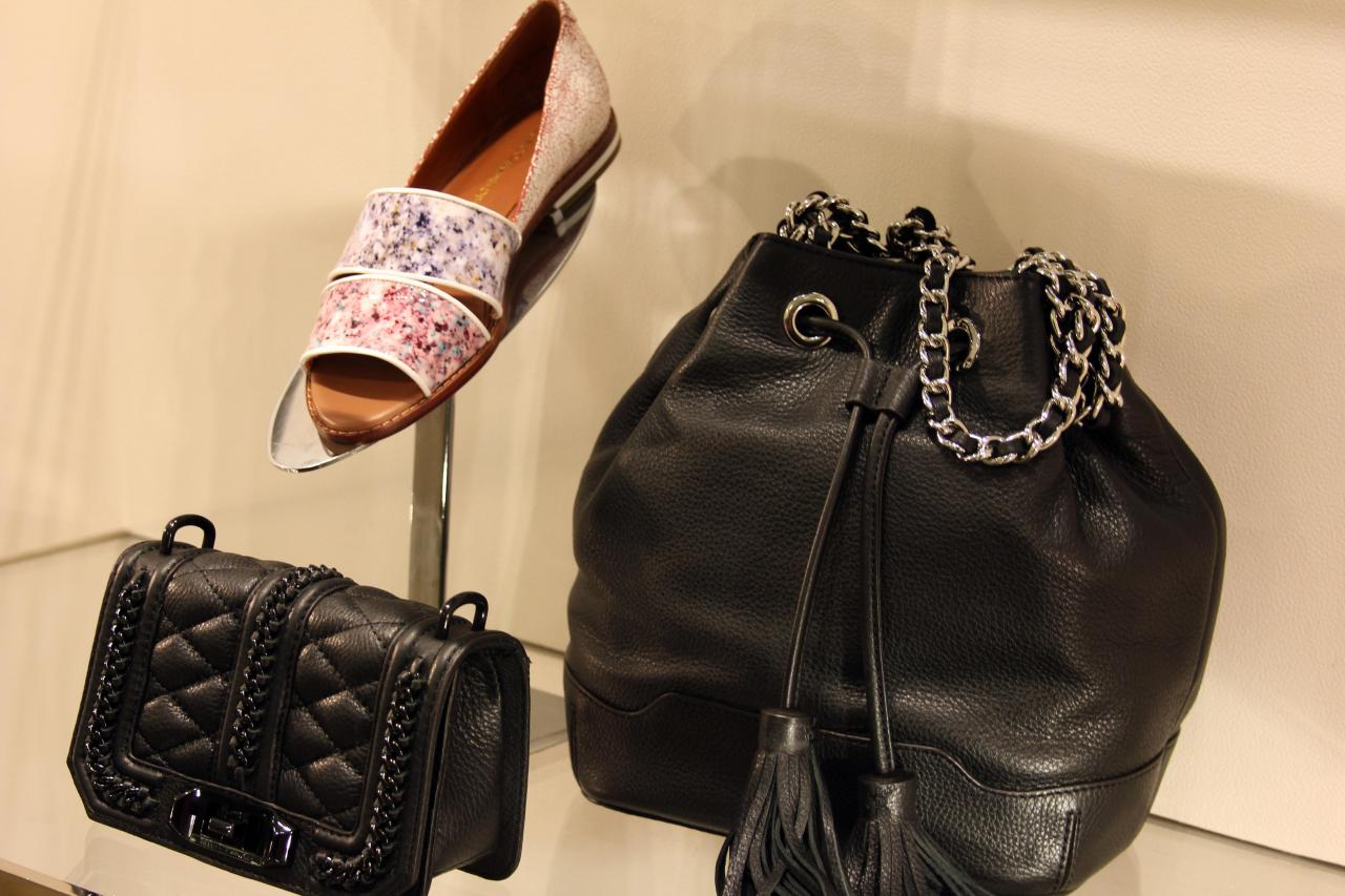 I love how Rebecca Minkoff can take such a simple concept, like a black handbag, and twist it so many different ways. That's what separates the true designers from the rest.