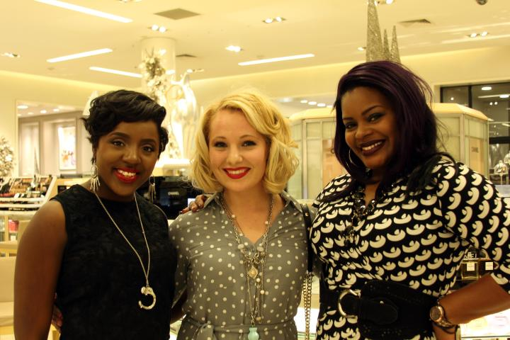 MY GIRLS! Ah! No words can express how much I love these two fashionable ladies--I miss y'all dearly! Come to JC so we can get into some makeup fun *wink* (from left to right) Tasha Deyampert, the VIP, and Tamarous Reynolds.