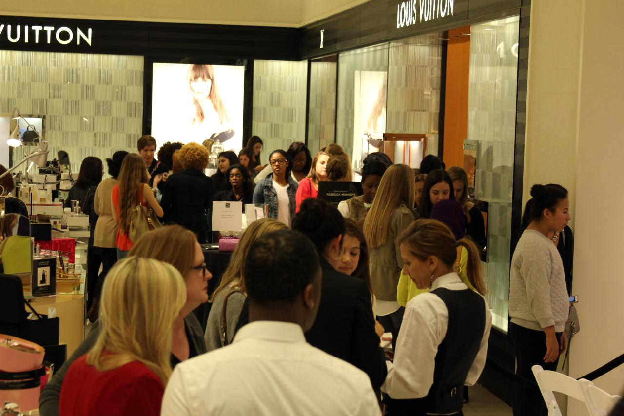 The crowd at Saks Birmingham was wild to see THE Rebecca Minkoff.