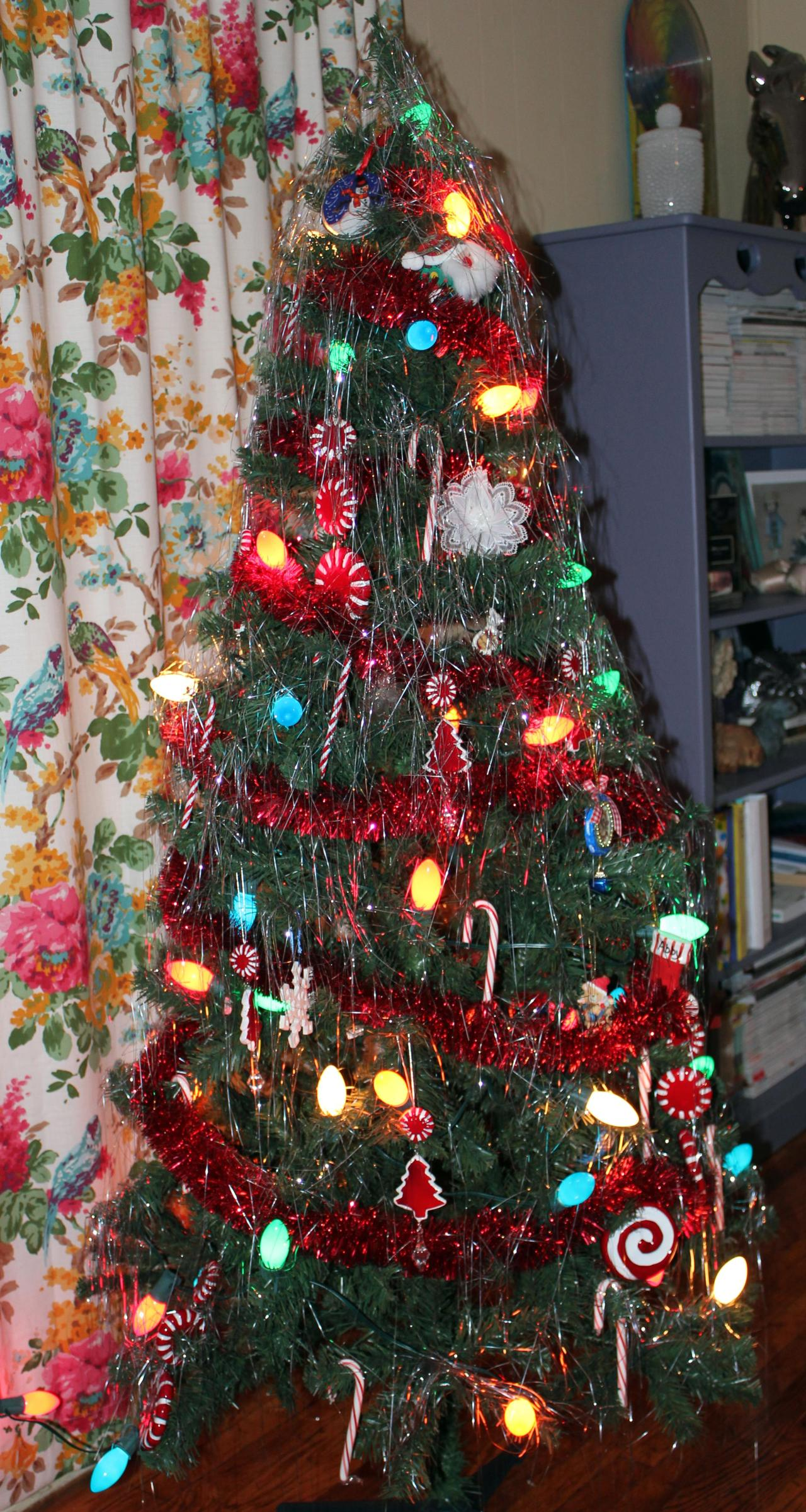 My purposefully-tacky Christmas tree *wink*