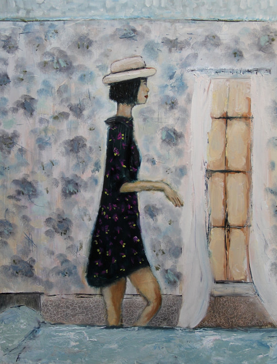 Lisa Graham Art: click here to shop. I. LOVE. LISA'S. PAINTINGS. AH! This  one I think would look great in my closet! She has so many wonderful ones that I have a hard time just choosing one or two!
