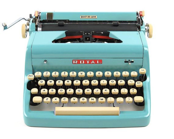 Retroburgh: click here to shop. A restored, vintage typewriter because I am very much wishing for one for Christmas...*hint, hint, Santa*