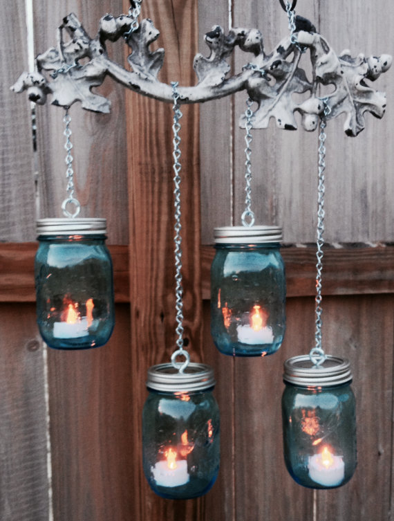 Southern Pendants: click here to shop. How lovely is this upcycled, tea-light chandelier?! I think I need one for my patio *wink*