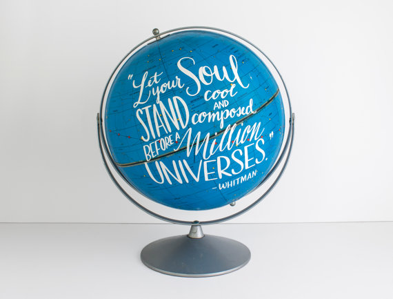 Wild & Free Designs: click here to shop the awesomeness.  P.S. I am so in love with Wild & Free Designs' vintage globe art! Ah! So fab.