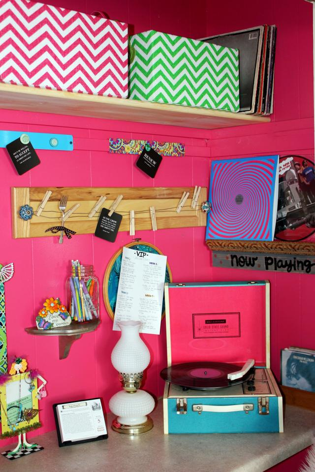 Junky yet organized--my office space is all about function!