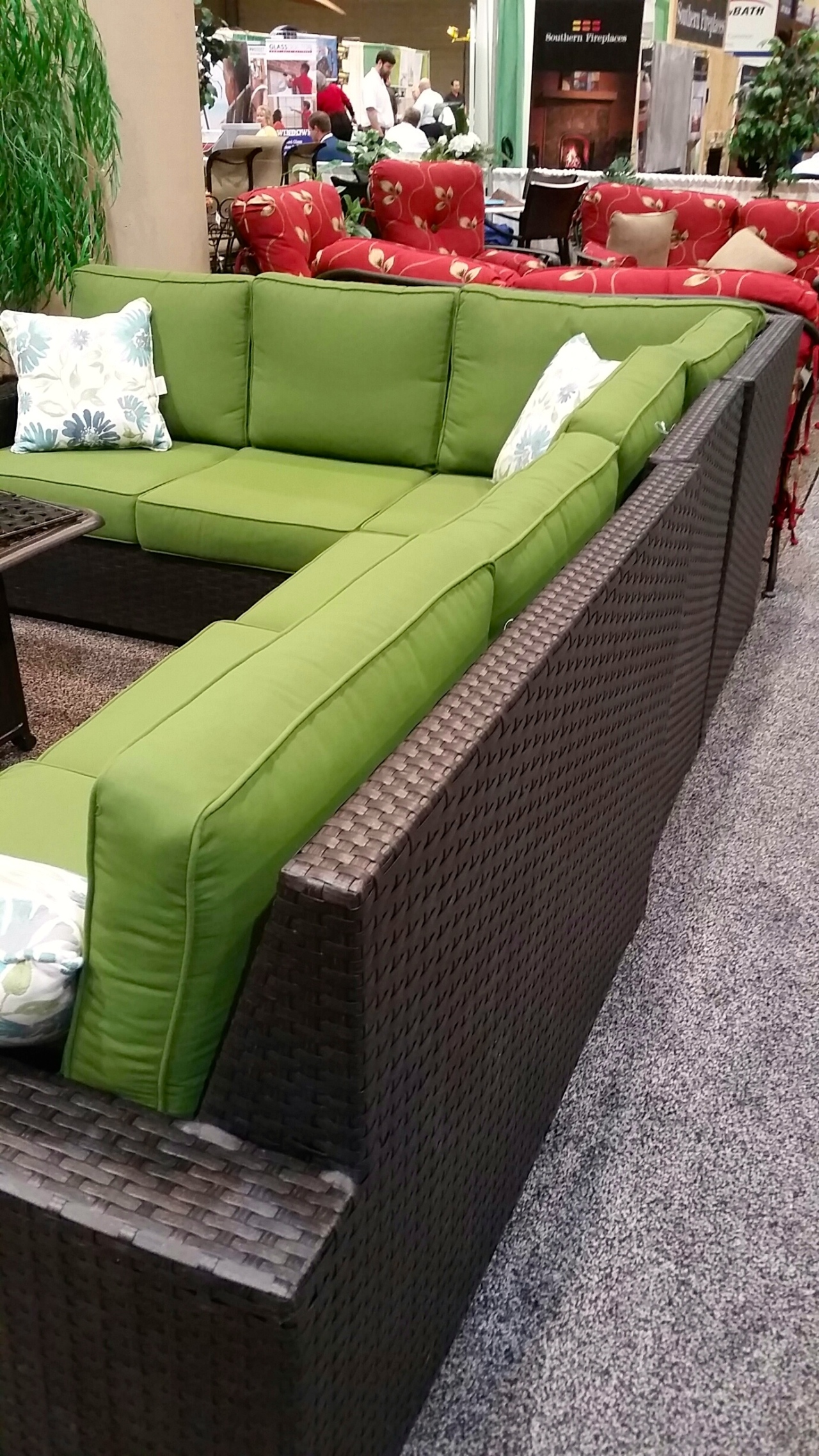 Lake Guntersville Pool & Patio had some pretty fabulous outdoor furniture and deals at the show.