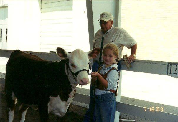 I just had to show y'all this photo of me with my heifer and Paw Hathorn. Y'all can see why I had to hang out at the beef vendor. Click here for fabulous recipes and more about beef.
