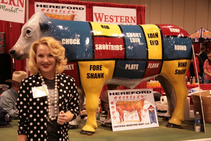 I had a lovely time at the Birmingham Home + Garden Show on Saturday, February 14. This particular vendor tugged at my heart strings because it took me back to the days of showing Polled Herefords.