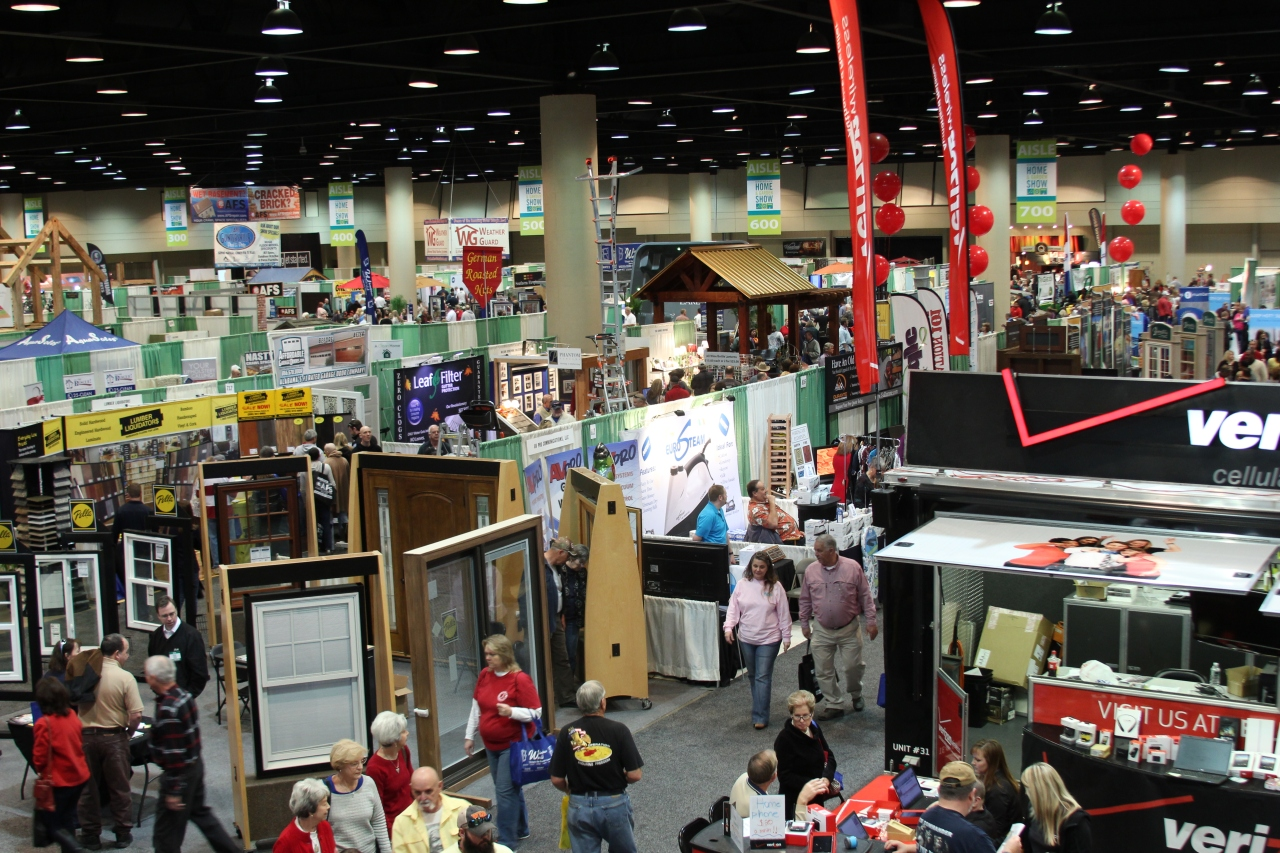 An impressive crowd at the Birmingham Home + Garden Show on Saturday, February 14.