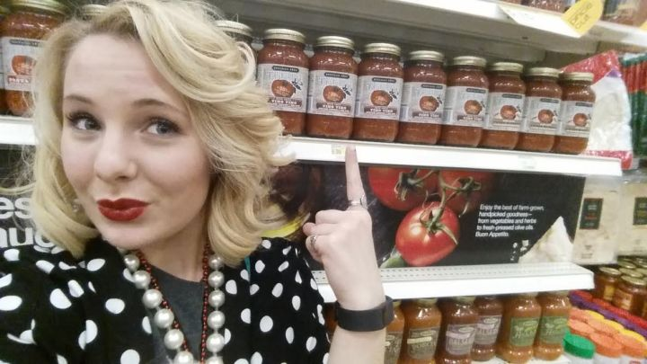 """OH! And don't forget to stay tuned to the blog for the interview with the Fabulous Beekman Boys to find out why I am taking a selfie--or as they called it a """"shelfie""""--with tomato sauce...Hm...I wonder why the VIP is going that??? *wink*"""