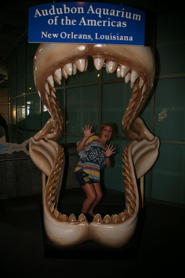 Was wearing Aztec before it was cool Maybe....*wink* Another throwback from NOLA at the aquarium in 2011.