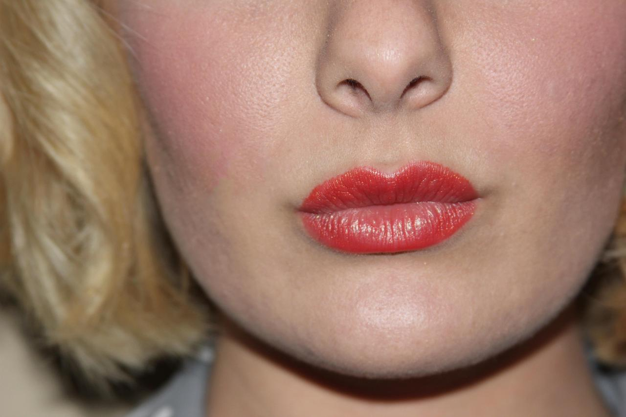 Last but not least--LIPS! Y'all know how crazy I am about lip color *wink* So, I of course love the small punch of coral. This shade is Fleur De Feu from Guerlain.