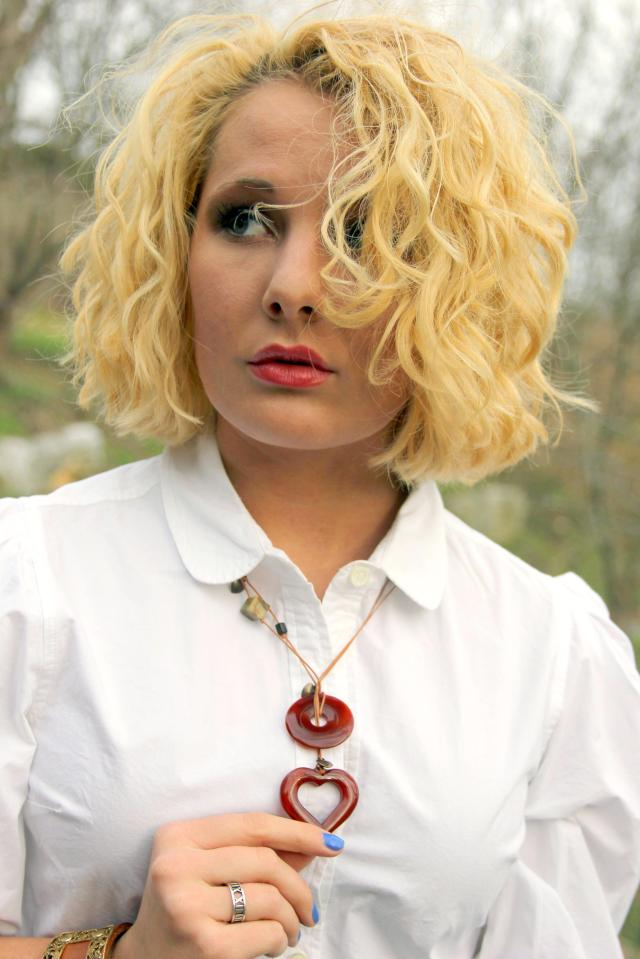 Necklace by Hearts of Stone Jewelry by Rachel Leathers.