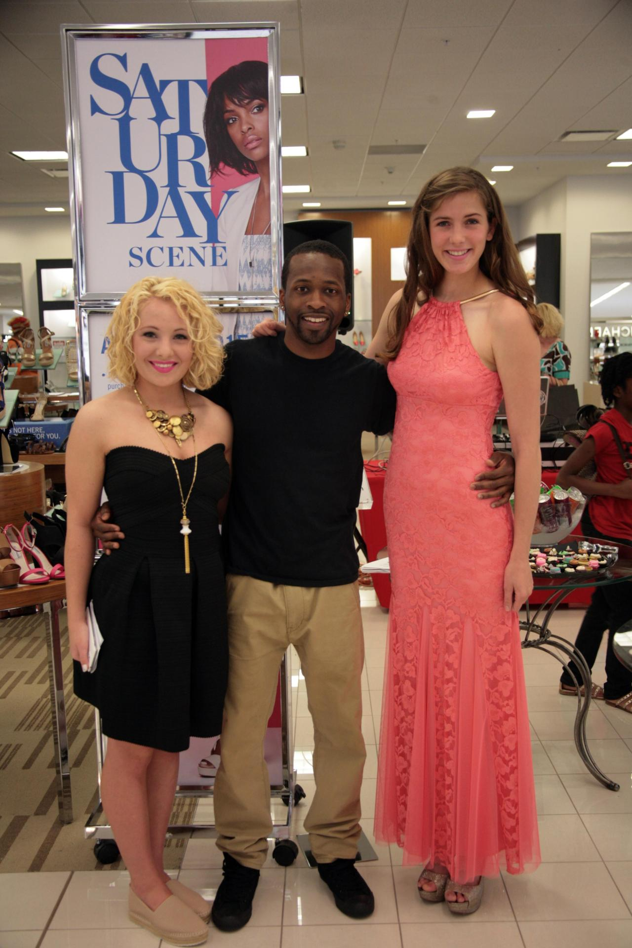 The VIP with DJ New Era and model Eva Thomas at the #BelkScene event.