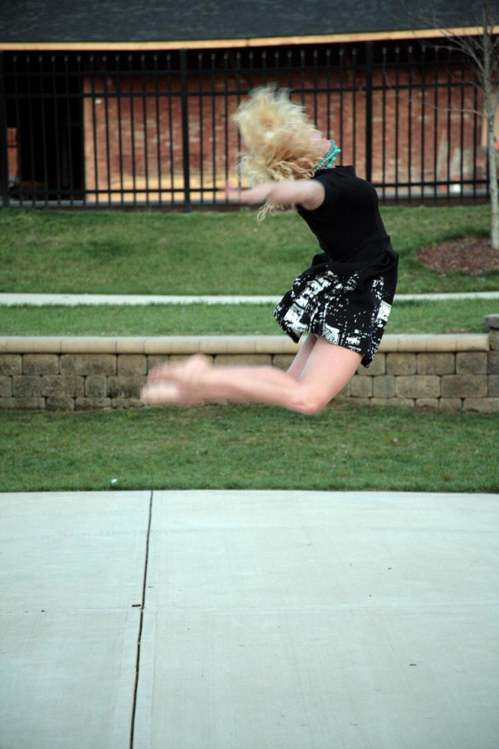 C jumps in the park (while trying not to flash bystanders *wink*).