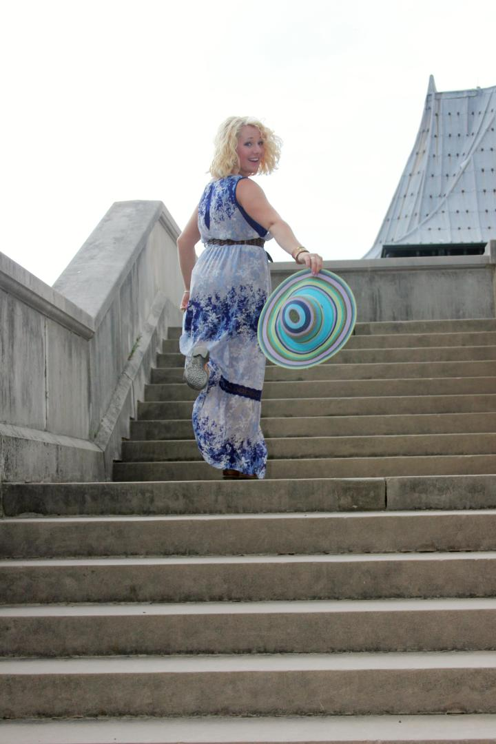 Running up the stone stairs at Biltmore feeling like a princess :)