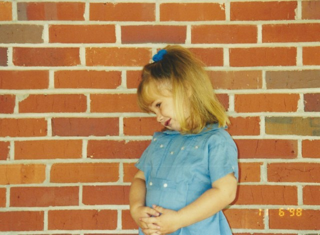 Throwback photo just for fun *wink* This photo was taken when I was a toddler at my Paw Riley's childhood home down the road from the house where I grew up.