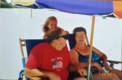 My Paw Riley, Maw Maw, and I at Biloxi beach in 2002. My grandmother is one of the biggest lovers of the beach I know *wink*