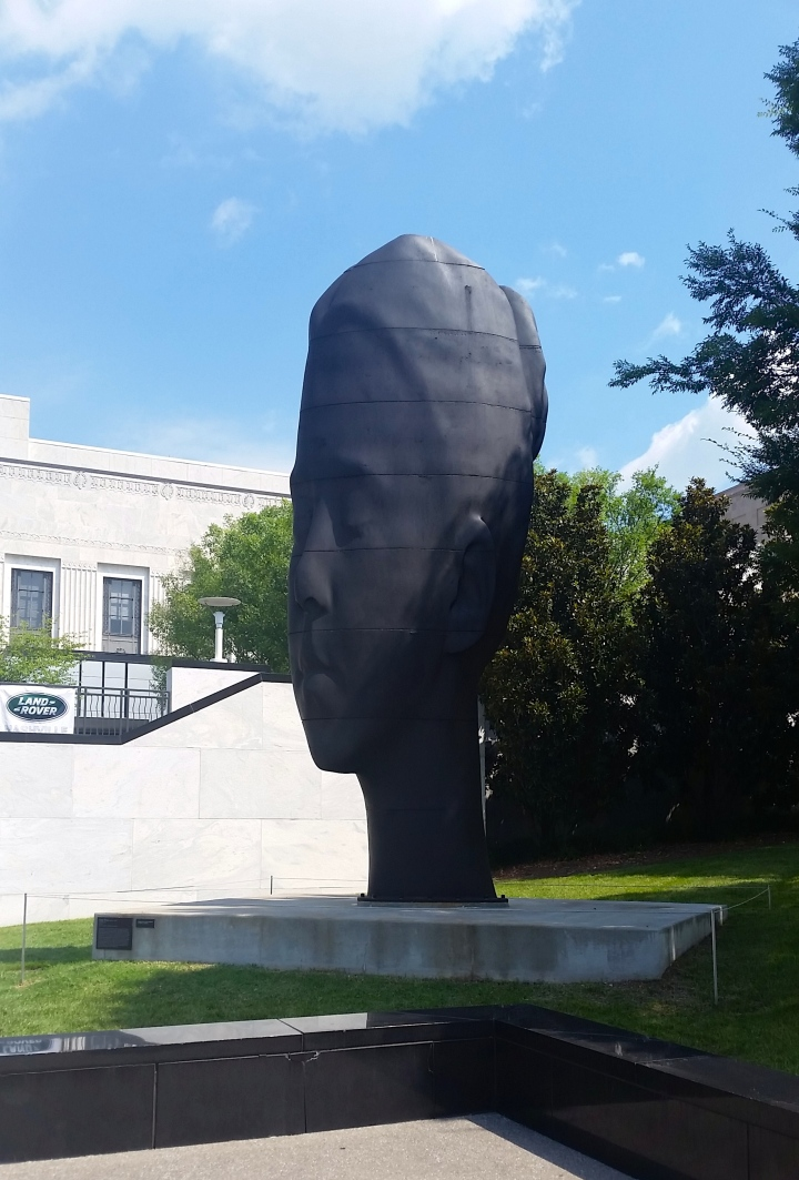 This amazing sculpture in front of The Frist is from the Jaume Plensa Human Landscape exhibit on display now.