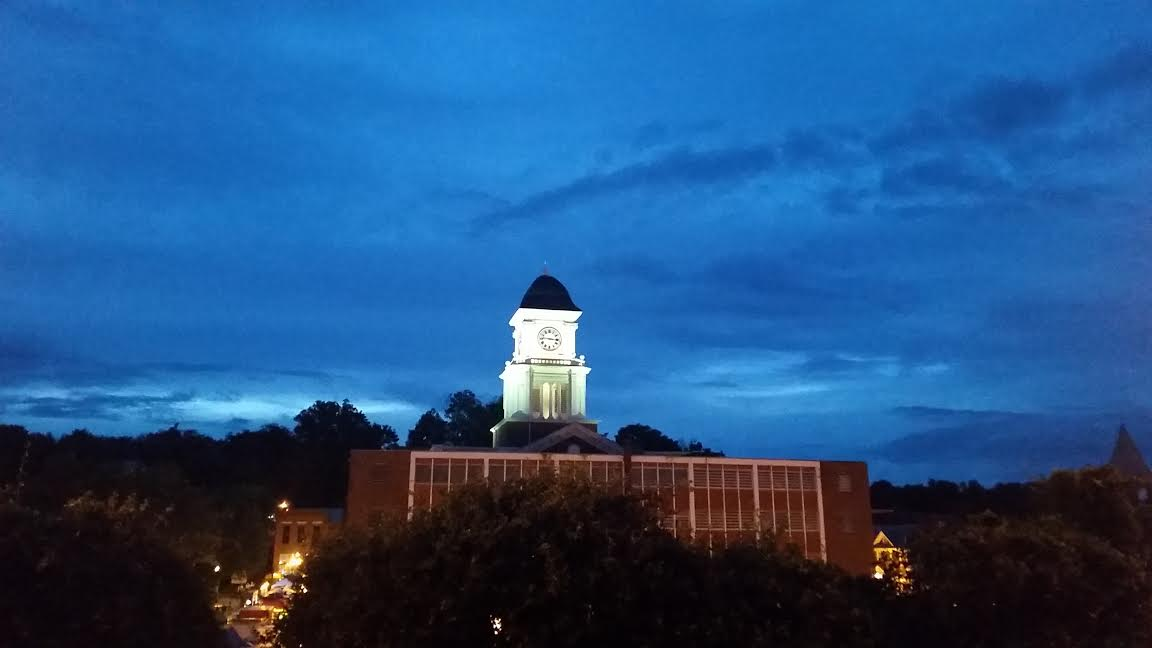Overlooking Jonesborough at night. How gorgeous is this view?! Love. Love. Love.