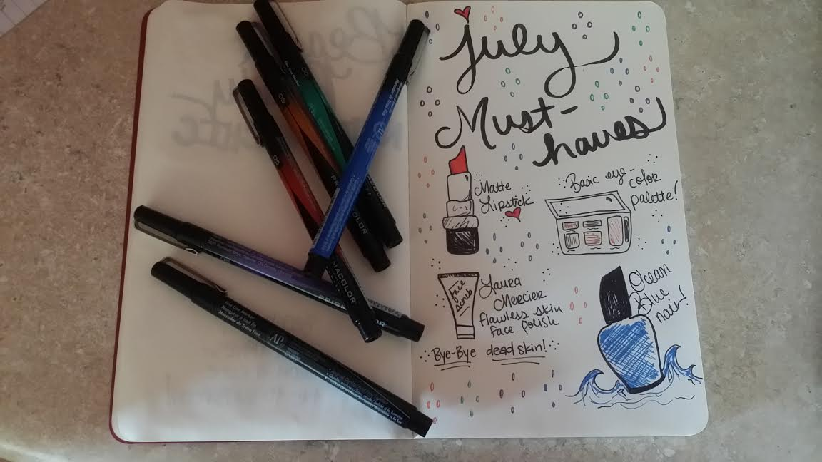 For my artsy readers out there who have been asking about what pens I use to doodle in my Beauty Journal...this is for you *wink* For this week's entry, I used The Faber Castell PITT artist pen (big brush) to doodle the header and I used PrismaColor Premier fine line markers for the rest :)