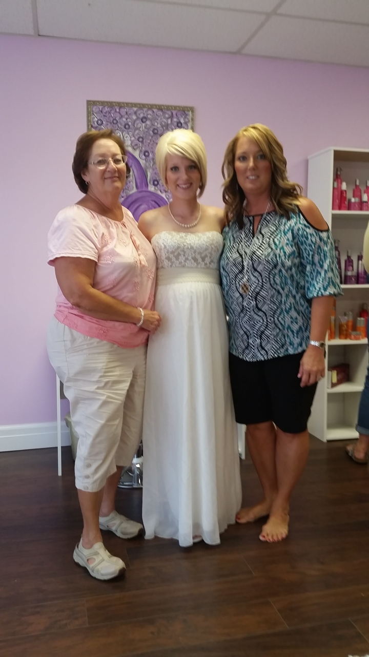 Courtney with her loving and supportive mother and Nana.