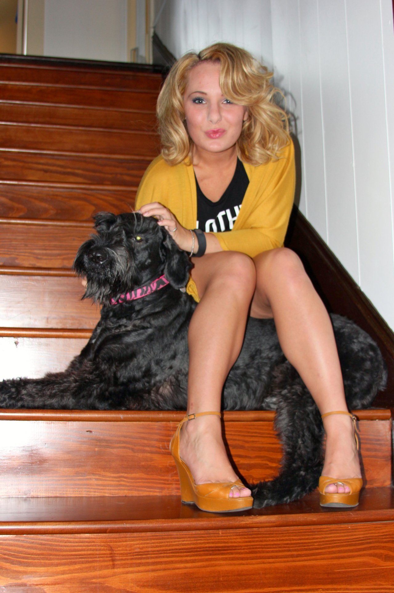 Clothes (and Giant Schnauzers) before Bros *wink* Oh, how I love my precious furbaby Ziva...even though she is HIGHLY uncooperative when I try to include her in my photo shoots haha