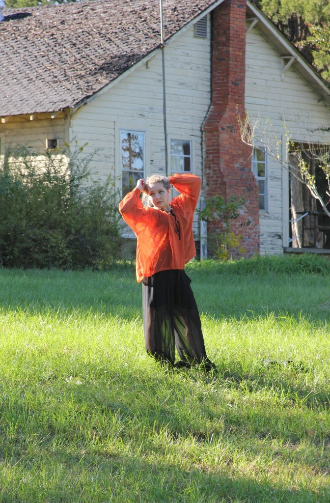 """~2012~ This flowy ensemble was from the first Halloween feature on the blog, and I love the black and orange. It is a little pumpkin spice and everything nice--or """"spooky"""" for the spirit of the Halloween season *wink* See the original post here."""