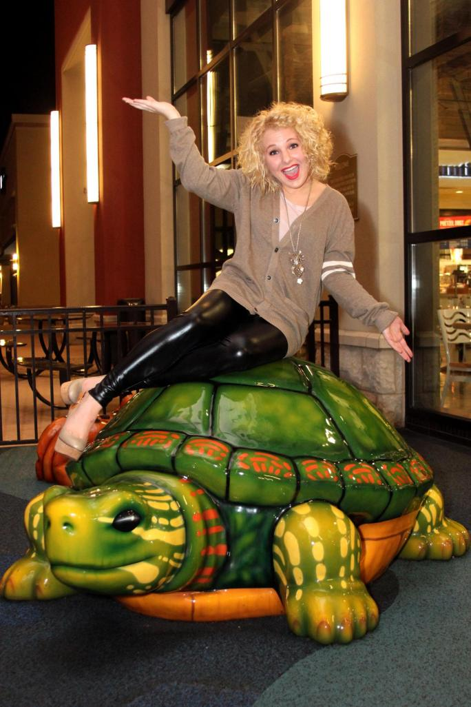 GIANT TURTLE--YAASSS! This time two years ago, I was working with The Outlet Shops of Grand River doing Grand Haul videos. Check out the blogpost HERE to read all about it and watch one of my Grand Haul videos.